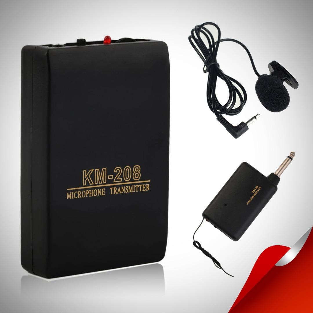 Wireless FM Transmier Receiver Lapel Clip On Microphone System Set Pro Receiver + Transmier + Mic Kits Mayitr