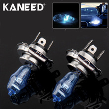 High Quality HOD H4 Halogen Bulb Super White Car Headlight Bulb 12V 90/100W 6000K Price for Pair Auto Access(China)