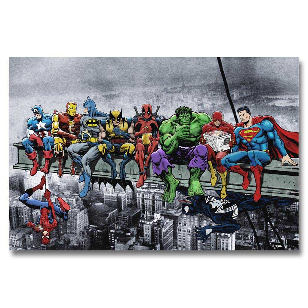 A348 Superheros Marvel DC Comics SKYSCRAPER Top A4 Art Silk Poster Light Canvas Painting Print Home Decor Room Wall Picture