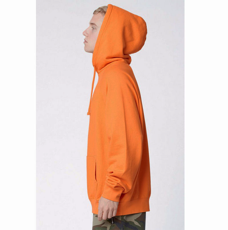 17 fashion color orange hooides men's thick clothes winter sweatshirts men Hip Hop Streetwear solid fleece hoody man Clothing 9
