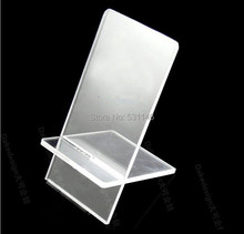 Free Shipping 20PCS Universal Clear Acrylic Mobile cell phone display stand holder racks Without LOGO