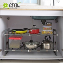 new year Multilayer plastic stainless steel kitchen bathroom shelf layer wearing toilet receive storage rack(China)