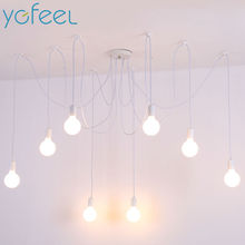 [YGFEEL] Modern Pendant Lights Nordic Simple Style Indoor Lighting Adjustable DIY E27 AC90-260V Spider Pendant Hanging Lamp