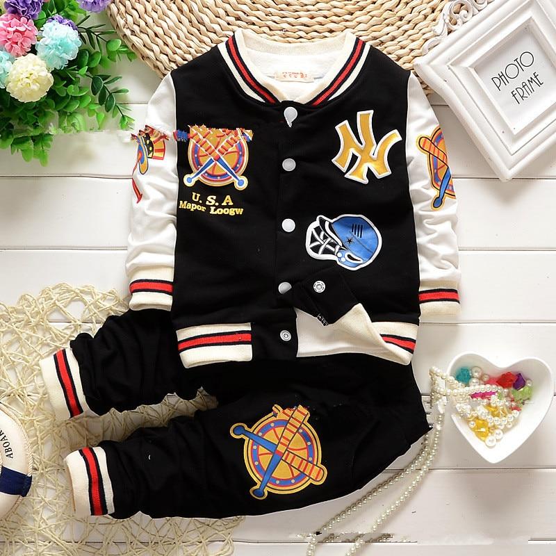 2015 New Baby Boy clothing set boy sports suit set coat + pants 2pcs clothing children outerwear jacket tracksuit clothes<br><br>Aliexpress
