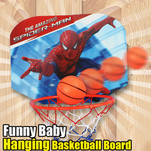 Spiderman Children Basketball Hanging Set Toy Balls Mini Basketball Game Funny Indoor Outdoor Toys Games Baby Ball Sport