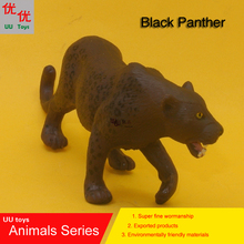 Hot toys: open mouth Black Panther Simulation model Animals kids toys children educational props(China)