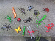Free shipping Plastic material artificial Ant budworm scorpion Petunia insect flies crickets .. model  sets 14pcs/a lot FT012