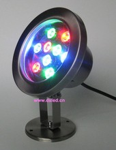 DMX compitable IP68 9W RGB underwater LED light,LED pool light,DS-10-6-9W,12V DC,stainless steel good quality,2-Year warranty