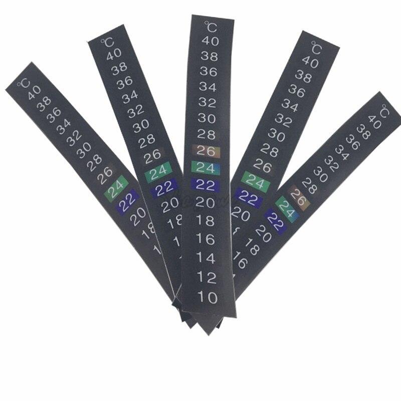 5pcslot Dual Scale Homebrew Beerwine Aquarium Fish Tank Temperature Thermometer Sticker Adhesive Sticky (6)