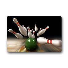 CHARMHOME Fashion Living Room Doormat Bowling Ball Game Doormat Custom Door mat Home decor Carpet Fashion Rug