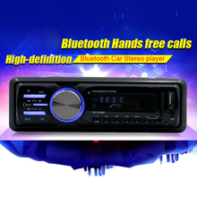 12V Bluetooth Auto Car Stereo Radio Vehicle MP3 Player Support Handsfree FM Aux Input SD Card USB + Remote Control(China)