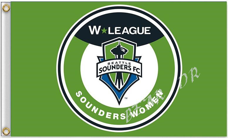 MLS Seattle Sounders FC Flag 3ft x 5ft Polyester Football Banner Flying Flag(China)