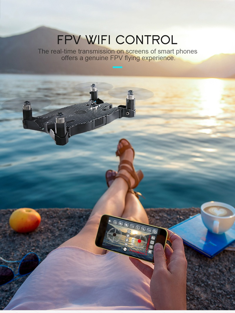 Free Mini Drone with Discounted H49 SOL Ultra-thin Wifi FPV Selfie Drone 7P Camera Auto Foldable Arm Altitude Hold RC Quadcopter 18
