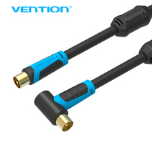 Vention Coaxial TV Satellite Antenna Cable 90 Degrees Male to F type Male TV Cable 1m 1.5m 2m 3m 5m 10m For Satelite TV