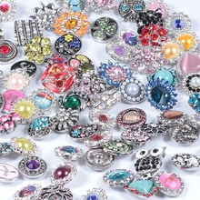 Buy Wholesale 50pcs/lot Mixed metal 18mm snap button jewelry DIY Metal Rhinestone snap button fit snap button bracelet Jewelry for $14.22 in AliExpress store