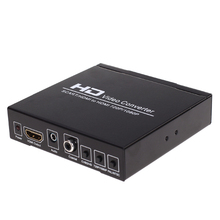 1pc Black New Multifunctional Black DC 5V SCART + HDMI To HDMI 720P/1080P Video Converters with EU Power Adapter(China)