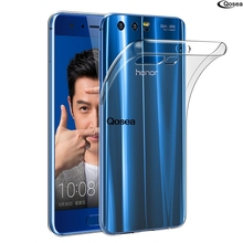 Qosea NEW For Huawei Honor 9 Case Transparent Ultra-thin Slim Silicone Anti-knock TPU Skin Soft Honor 9 8 Capa Protective Cover