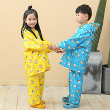 Cartoon Animal Rain Coat &Pants Suit Poncho,Girl's Boy's Raincoat For Children Kids Chubasquero Set Winter