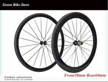 Free shipping road wheelset road carbon clincher front 38mm rear 60mm 700c wheelset 23mm width(China)