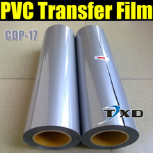 High quality Flex Pvc transfer film with size:0.5x25m per roll by free shipping CDP-17 Silver Color(China)