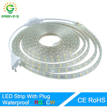 GreenEye SMD 5050 AC220V LED Strip Flexible Light 60leds/m Waterproof LED Light With Power Plug 1M/2M/3M/5M/6M/8M/10M/15M/20M(China)