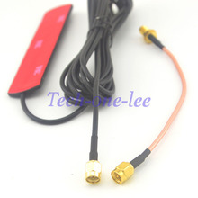 2 piece/lot 3dbi GSM SMA Antenna Male Plug 9.84ft cable + 5.9'' SMA Cable Male to SMA Female(China)