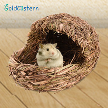 Cute Handmade Slippers Hamster Bed Grass Nest  For Chinchilla Guinea Pig  Parrot Ferret Small Animal Nest Bed