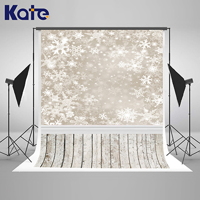 Kate Baby photography backdrops white frozen snow background photo wood floor light spot stand fotografia for studio L-885<br>