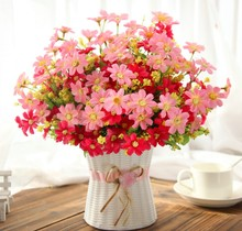 Artificial flowers for decoration phalaenopsis silk flowers bonsai dining table decoration weeding flowers