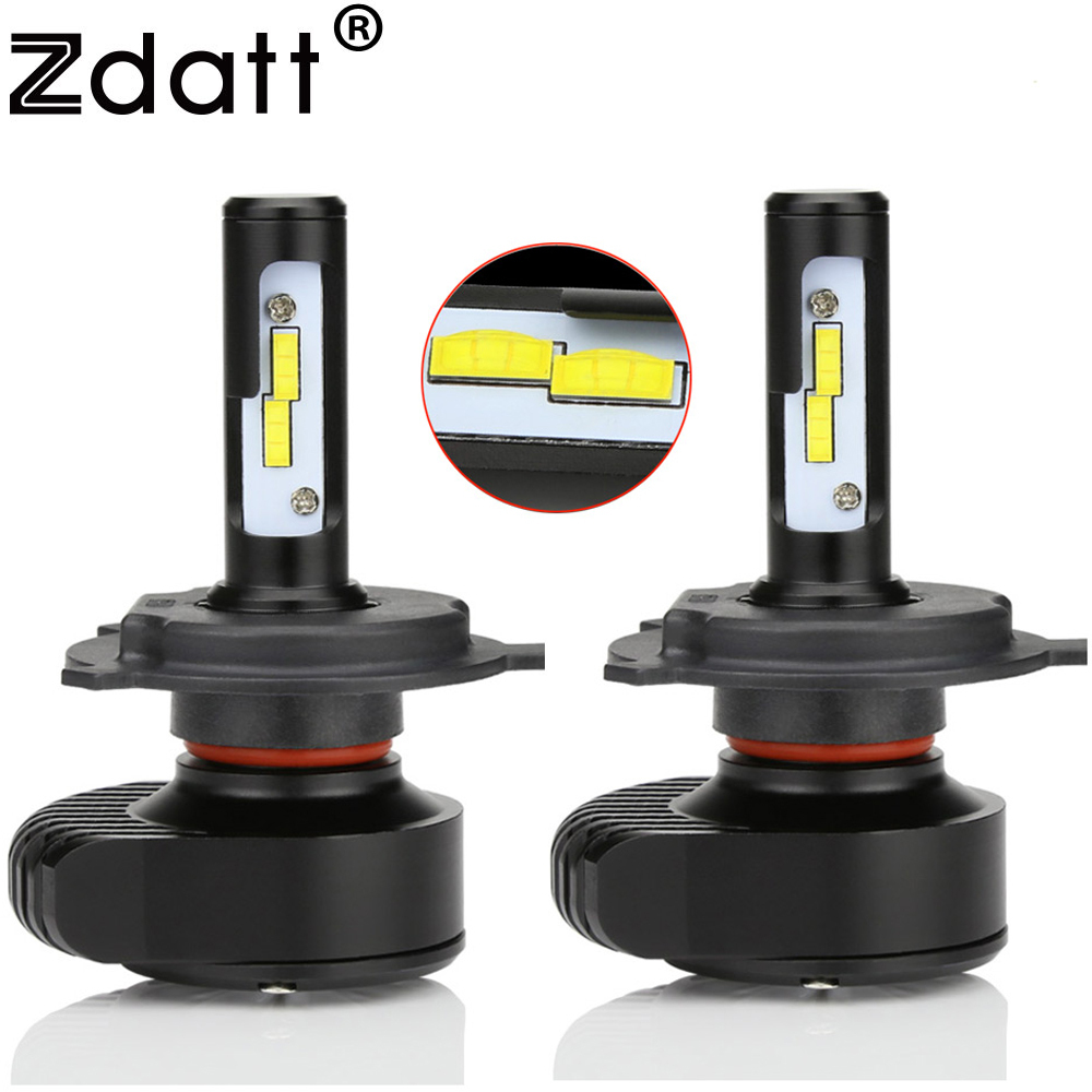 Zdatt Upgrade Mini Led H4 H7 Canbus Headlight Bulb H8 H9 H11 H1 9005 HB3 9006 CSP 80W 8000Lm Car Light 12V Fog Lamp Auto 6000K