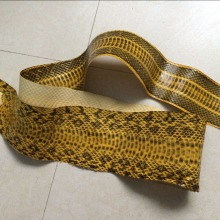 Genuine Snake Leather for Belt Shoe, Yellow and Black Color WS004(China)