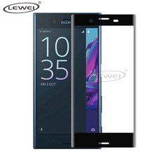 LEWEI 3D Curved Tempered Glass for Sony Xperia X Compact Full Cover Case Screen Protector Film Rounded Edge