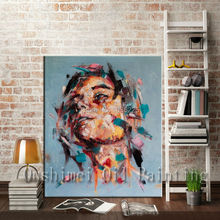 3d wallpaper modern figures decoration oil painting beautiful women face canvas oil Painting sticker for home decor wall decor(China)
