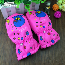 Winter 2-5 Years Old Children Ski Gloves Windproof Warm Snowboard Gloves Kids Baby Cartoon Sports Mittens(China)