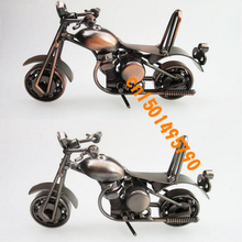 15*6*7CM Creative ornaments Home Furnishing Decor iron motorcycle model gift metal crafts
