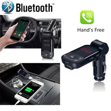 High Quality  car-styling   LCD Bluetooth Car Kit Cigarette Lighter MP3 FM Transmitter Handsfree USB Smart Car Charger