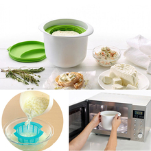 Self Made Microwave Cheese Maker Contains Recipes Diy Fresh Healthy Cheese Dessert Making Machine Cake Tools(China)