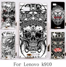 Special Hard Painting Phone Case For Lenovo Vibe Z K910 K910L K910S K910I Back Cover with Cool Skull Telephone Accessories