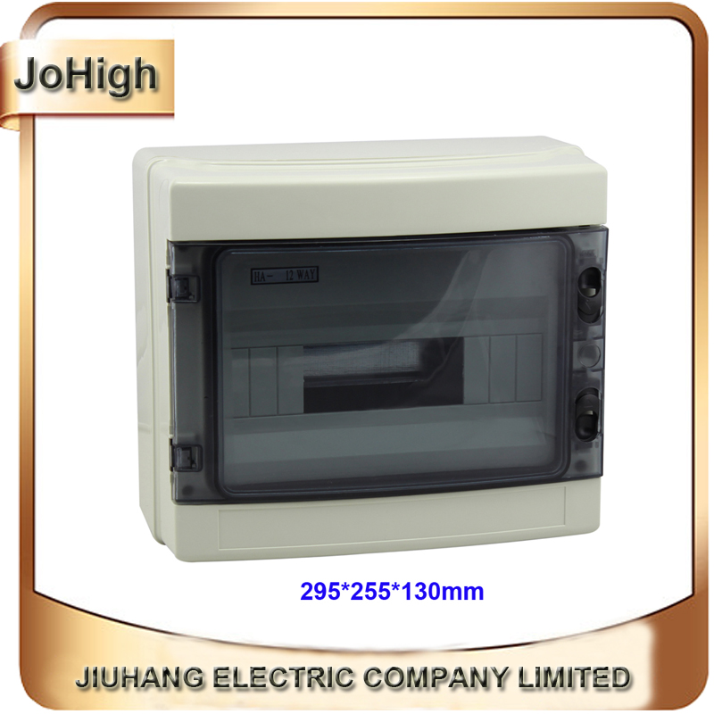 Free Shipping Top Quality PVC Cover ABS body IP66 Transparent Cover Plastic Distribution Box 12 way Circuit breaker Box<br>