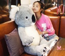 stuffed toy ,large 120cm gray koala plush toy, soft throw pillow toy birthday gift h2963(China)
