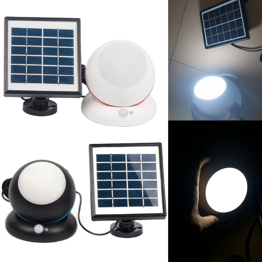 Dome Camera Shape LED Solar Wall Lamp light Build-in 2000mAh lithium battery with Solar panels, Body infrared sensor function<br>