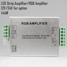 1Pc Top Sale LED RGB Amplifier 12A LED Controller DC12-24V for 5050 3528 RGB LED Strip Light Free Shipping