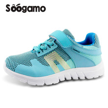 Student school shoes Kids sneakers boys and girls casual shoes breathable Hook loop shoes anti slippery quality shoes(China)