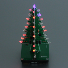 7 Color 3D DIY Christmas Tree DIY Kit Flash Lights Circuit Parts Electronic Glitter LED Christmas Tree Gifts Family Decoration(China)