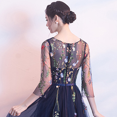 YIDINGZS Short Prom Dresses Embroidery Tulle Knee Length Party Dress 11 Online shopping Bangladesh