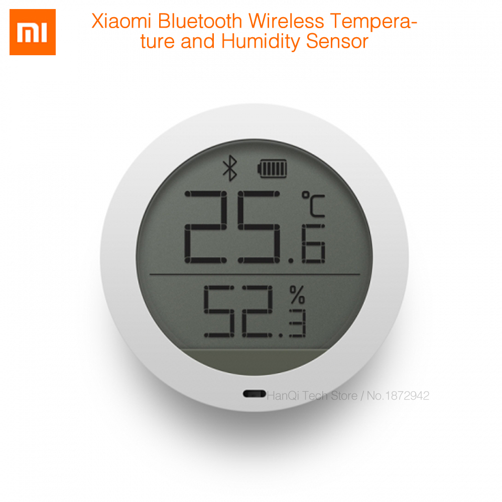 Original Xiaomi Mijia Bluetooth Hygrothermograph High Sensitive Hygrometer Thermometer LCD Screen Magnetic Sticker Low Consume