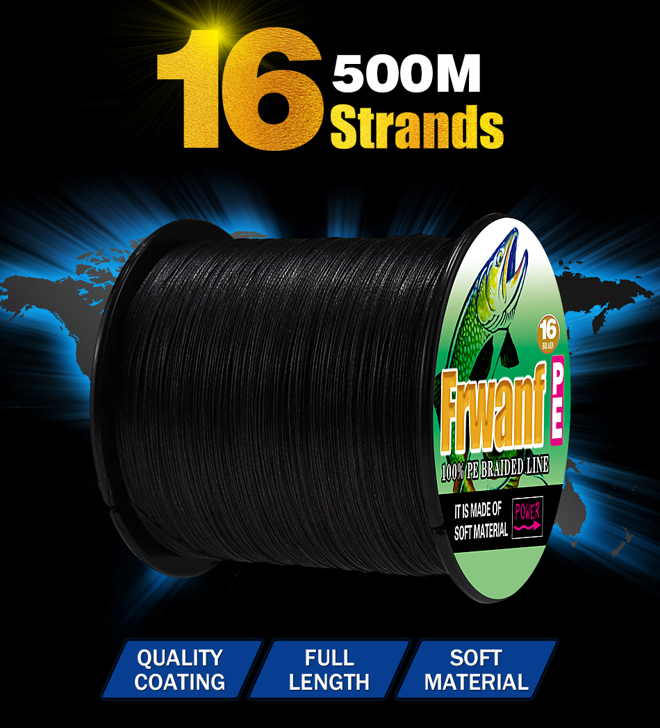 16 STRANDS BRAIDED FISHING LINE 500M (3)