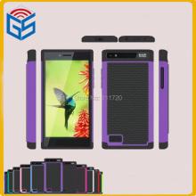 High Quality PC Silicone Hybrid Hard Protective Back Phone Cover Case For Blackberry Leap Z20 Free Ship