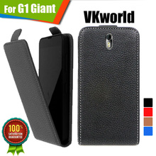 Newest Track number For VKworld G1 Giant WholeSale Customed 100% Special Luxury PU Leather Flip Case cover,free gift(China)