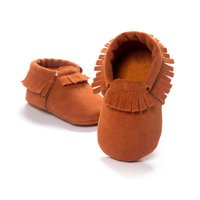 PU Suede Leather Newborn Baby Boy Girl Baby Moccasins Soft Moccs Shoes Bebe Fringe Soft Soled Non-slip Footwear Crib Shoes 08